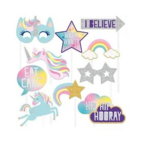 Unicorn Birthday Photo Props, pk10
