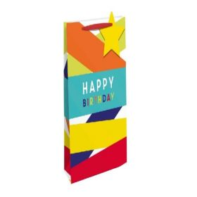 Happy Birthday Fun Bottle Gift Bag