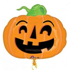 Happy Halloween Pumpkin SuperShape Foil Balloon 24""