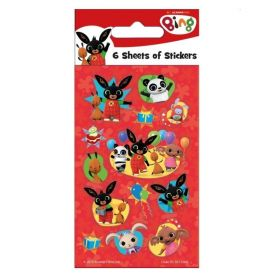 Bing Party Bag Stickers, pk6