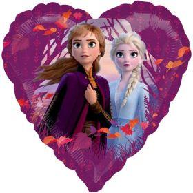 """Frozen 2 Heart Shape Foil Balloon 18"""""""