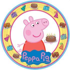Peppa Pig Plates 23cm, pk8