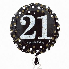 Gold Sparkling Celebration 21st Birthday Standard Foil Balloon