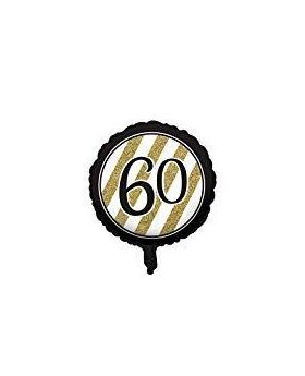 Black & Gold Age 60 Foil Balloon