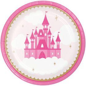 Little Princess Party Dinner Plates 23cm, pk8
