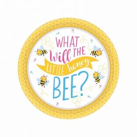 What Will It Bee? Paper Dessert Plates 18cm, pk8