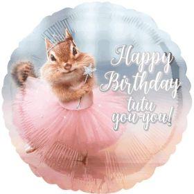 """Avanti Birthday Ballerina Foil Balloon 17"""""""