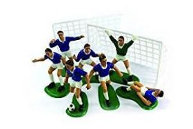 Blue Footballers Cake Decoration Set