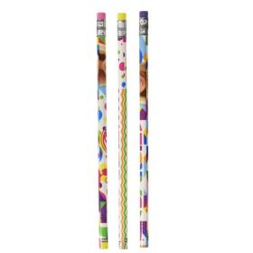 Barbie Sparkle Pencils and Erasers, pk 12