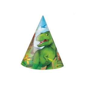 8 Dinosaur Party Hats