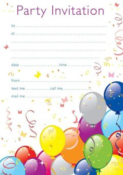Cont Party Invitations, pk20