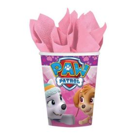 Pink Paw Patrol Paper Party Cups pk8