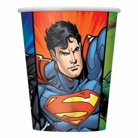 Justice League Paper Cups 9oz, pk8