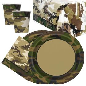 Army Themed Tableware Packs