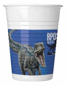 Jurassic World Fallen Kingdom Plastic Cups 200ml, pk8
