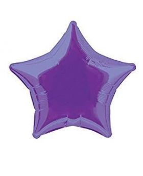 Deep Purple Star Foil Balloon