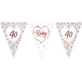 Ruby Anniversary Flag Banner 3.7m