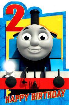 Thomas Age 2 Happy Birthday Card