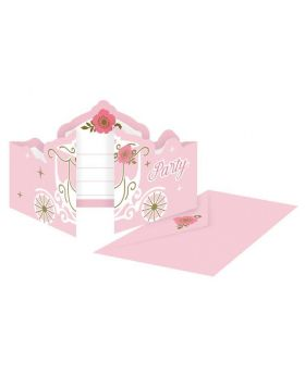 Princess for a Day Party Invitations, pk8