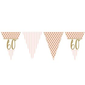 Pink Chic 60th Birthday Bunting 3.7m