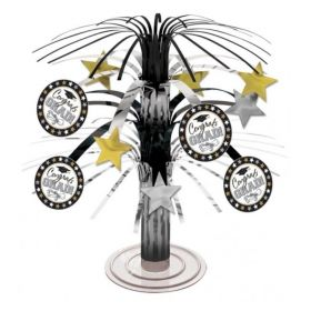 Black & White Graduation Mini Cascade Centrepiece 18cm