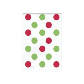 Red & Green Dots Christmas Treat Bags