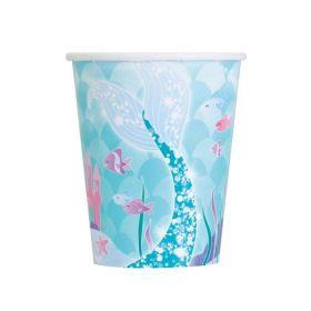 Mermaid Party Cups pk8