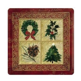 Rustic Christmas Party Plates