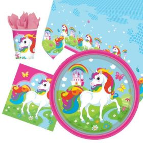 Unicorn Party Tableware Pack for 8