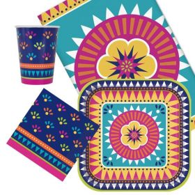 Boho Mexican Fiesta Tableware Party Pack for 8
