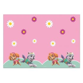 Pink Paw Patrol Party Tablecover 1.2m x 1.8m