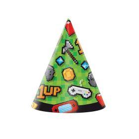 Gaming Party Hats, pk8