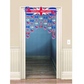 Great Britain Icons Door Curtain