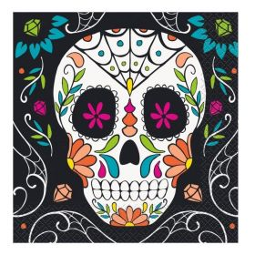 Skull Day Off The Dead Halloween Party Napkins
