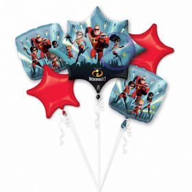 The Incredibles 2 Foil Bouquet Balloons, pk5