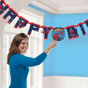 Spiderman Add an Age Letter Banners 1.6m x 13cm