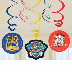 Paw Patrol Swirl Decorations, pk6