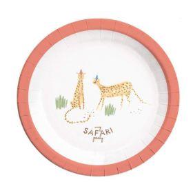 Safari Party Plates 23cm, pk8