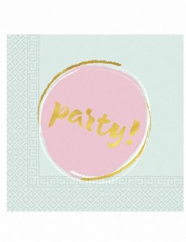 Elegant Party Napkins 33cm x 33cm, pk20