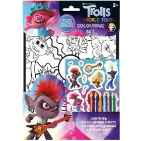 Trolls Colouring Set