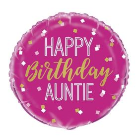 Happy Birthday Auntie Foil Balloon 18""