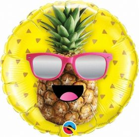 Mr. Cool Pineapples Foil Balloon 18''