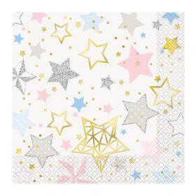 Twinkle Twinkle Little Star Napkins 33cm x 33cm, pk16