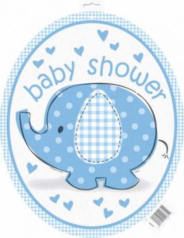 Umbrellaphants Blue Large Cutout