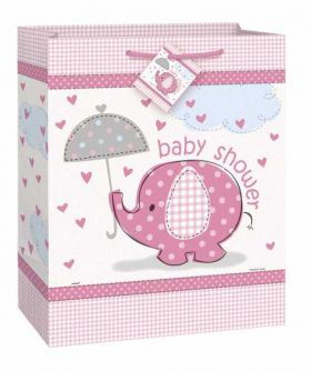 Umbrellaphants Pink Baby Shower Gift Bag