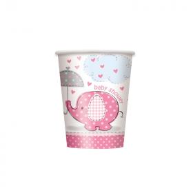 Umbrellaphants Pink Baby Shower Cups