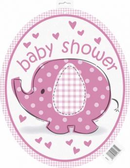 Umbrellaphants Pink Baby Shower Cutout