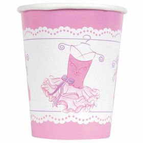Pink Ballerina Party Cups pk8