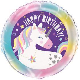 """Unicorn Birthday Foil Balloon 18"""""""
