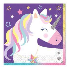 Unicorn Birthday Stars Party Napkins